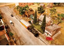 (NICHOLAS DRANEY/Standard-Examiner) A model train makes its way through a replica of North Ogden.