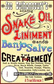snake oil and Banjo Salve